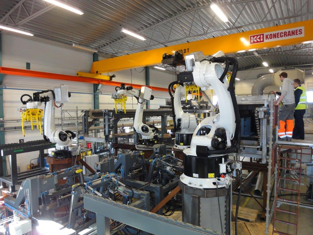 "Outotec manufactured ""armed"" cathode stripping machine for Uralelektromed"