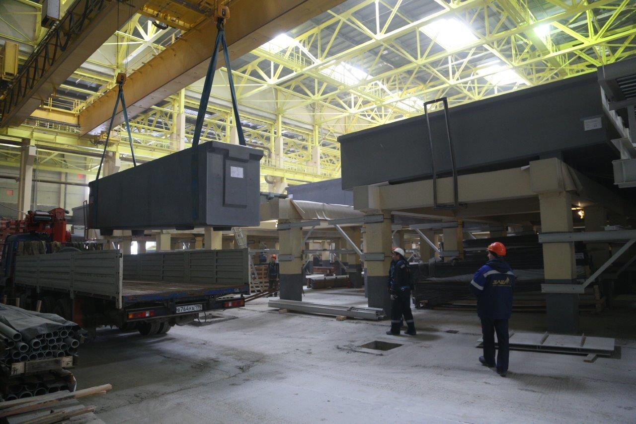 Uralelektromed has completed installation of electrolytic cells in the tankhouse under construction